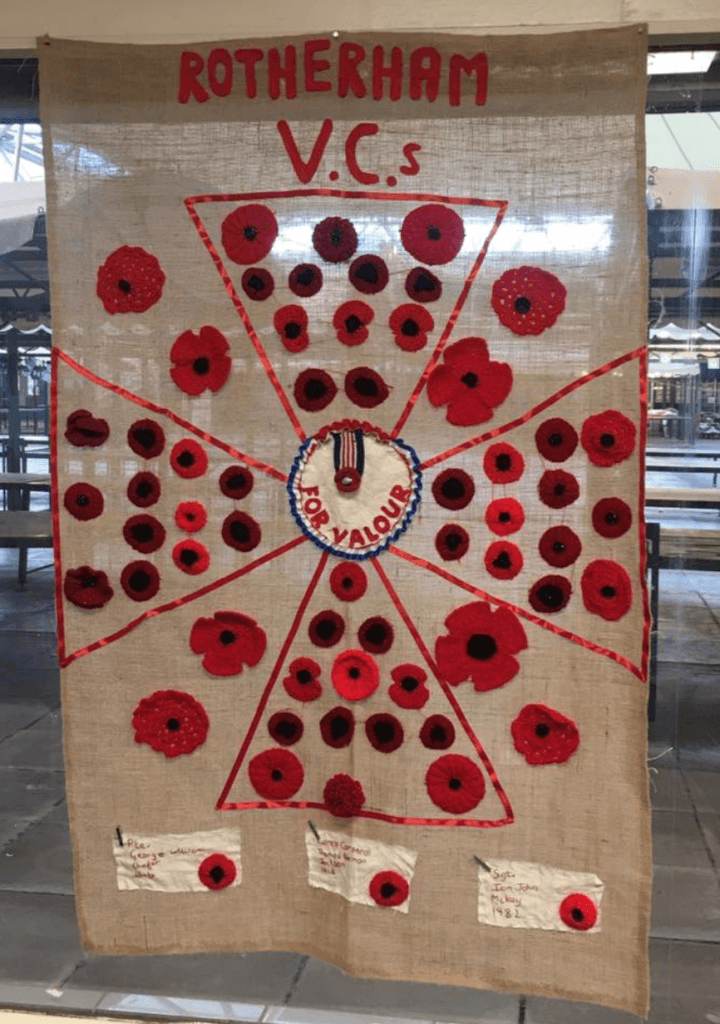 Rotherham market poppy support