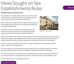 Sex Establishment in Rotherham