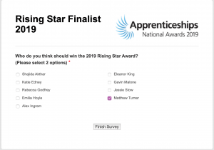 """How to help one of your own! Young Matthew Turner needs your help to win The National Apprenticeship Awards! 'The Rising Star of the Year award' 'LLOYDS BANKING GROUP AWARD FOR RISING STAR OF THE YEAR – PUBLIC VOTE' Matthew has gone through to the final and needs our help! The national final takes place in London on November 27. So you can still vote and help Matthew by voting for him here: Visit appawards.co.uk to vote. Indeed, all kids are outstanding in their own right, but I just thought it would be awesome to help a young local boy as I think it would mean the world to him and his family. At the same time, I'm sure 'Gemini Accident Repair Centre' in North Street, Rotherham, where Matthew works as an accident repair technician would also be thrilled if he wins! the employee of the year award Matthews words about it all: """"I feel like I've gained skills in teamwork, leadership and I don't think I would have got that from university so that's really set me up well for the future. Do you think Matthew deserves this Rising star academy award!? If so- let's help him. To conclude! Let's help this local young man to win!"""